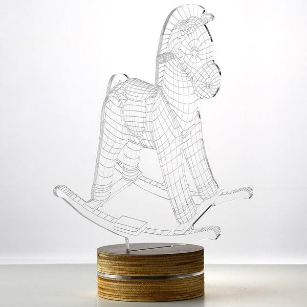 Lampa 3D stołowa Horse