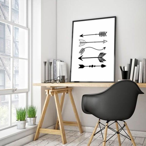 Plakat w drewnianej ramie Way, 38x28 cm