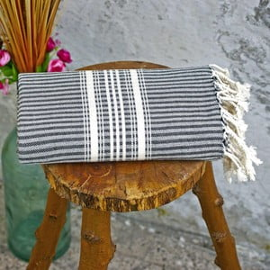 Ręcznik hamam Cloth Black, 90x180 cm