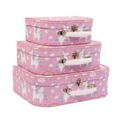Zestaw 3 różowych kuferków Sass & Belle Rainbow