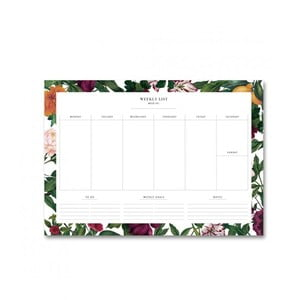Kalendarz tygodniowy Leo La Douce The English Garden II, 21x29,7cm
