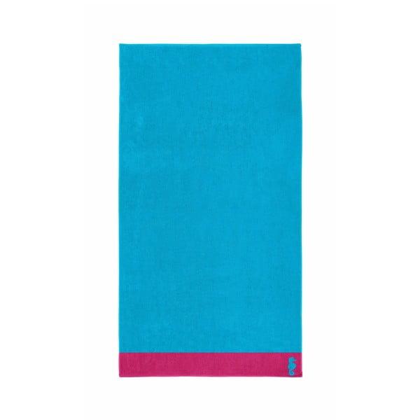Jasnoniebieski ręcznik Seahorse Cruise,100x180cm