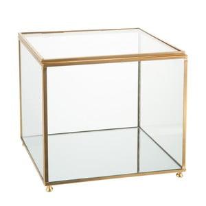 Szklana szkatułka J-Line Gold, 18x16 cm