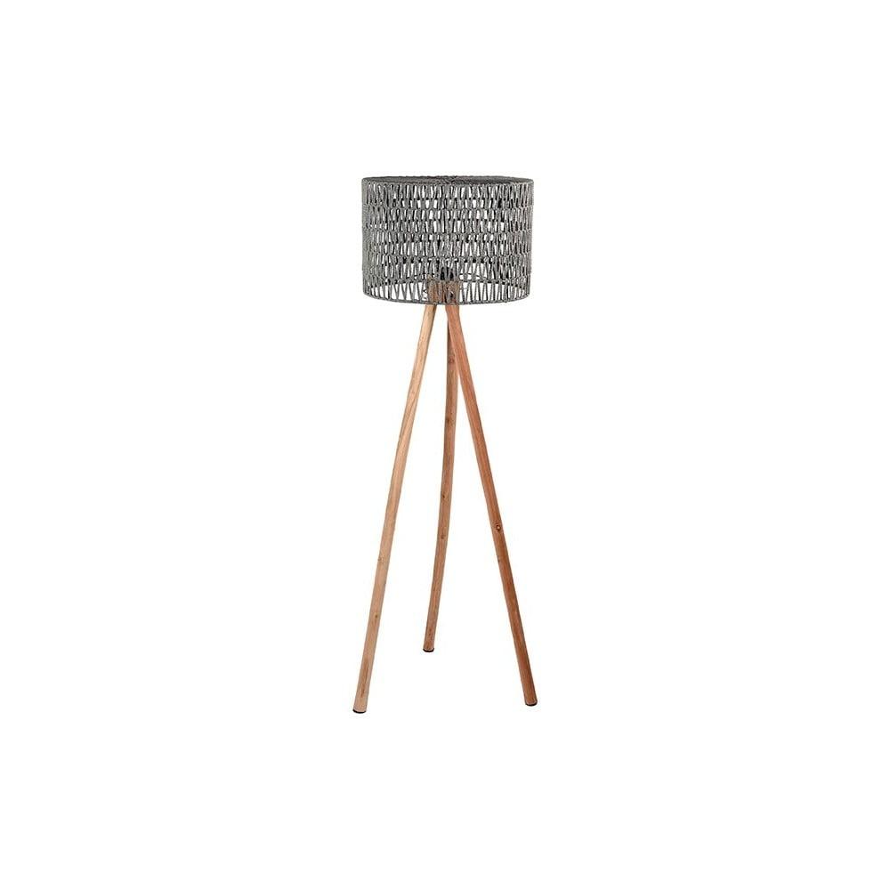 Szare lampa z drewna mango LABEL51 Stripe