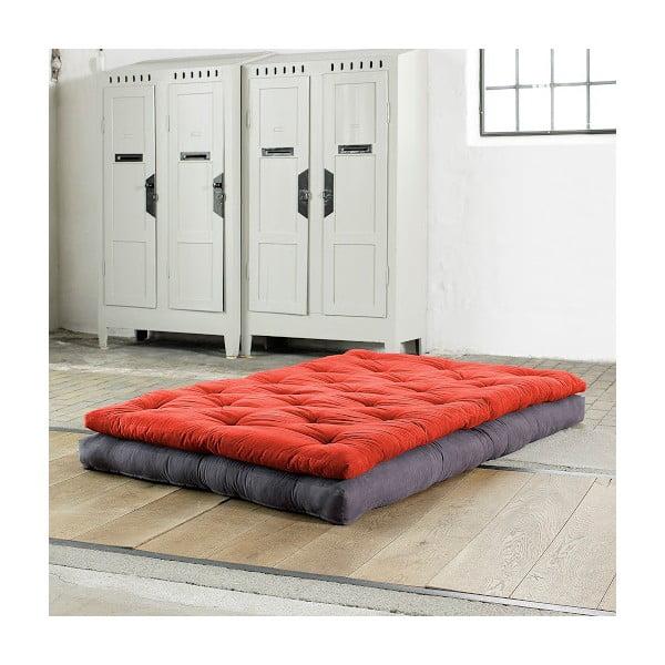 Sofa rozkładana Karup Buckle Up Gray/Red