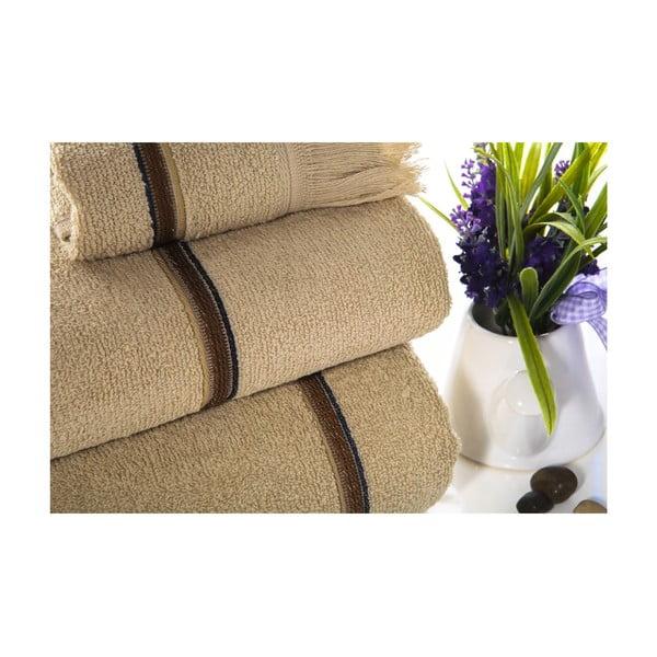 Zestaw 3 ręczników i kapci Pearly V2