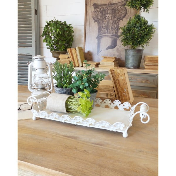 Taca Tray White Antique