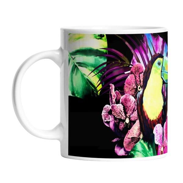 Ceramiczny kubek Neon Toucan, 330 ml