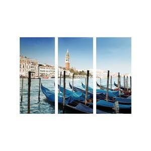 Trzyczęściowy obraz Wenecja