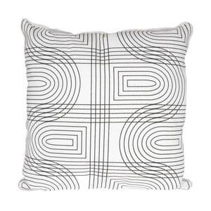 Biała poduszka ETH Retro, 45x45cm