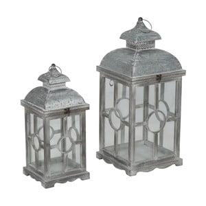 Zestaw 2 lampionów z konstrukcją z drewna jodłowego Mauro Ferretti Circle