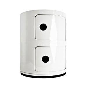 Biała szafka z 2 szufladami Kartell Componibili