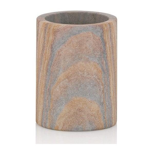 Kamienny kubek na szczoteczki do zębów Kela Dune