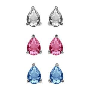 Zestaw 3 par kolczyków z kryształami Swarovski® GemSeller Drop