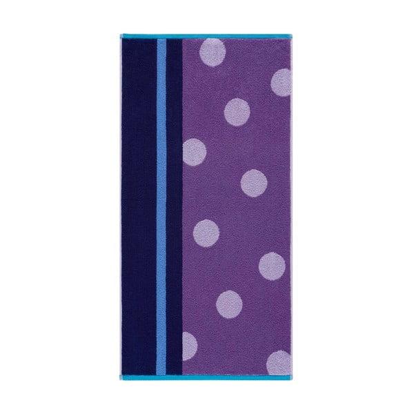 Ręcznik Punkte Purple, 70x140 cm