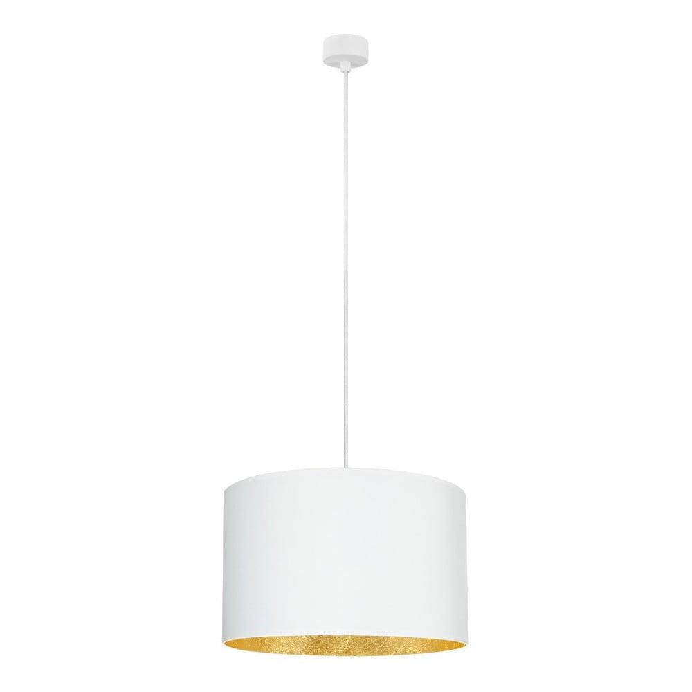 Biała lampa wisząca z wnętrzem w złotej barwie Sotto Luce Mika, ∅40cm