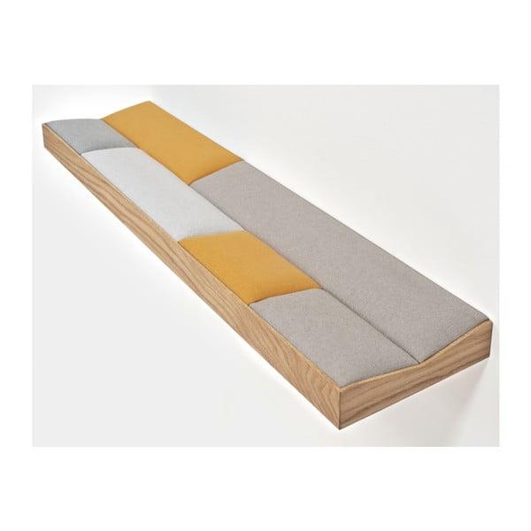 Snug Orange, wyściełana półka dębowa 100 cm