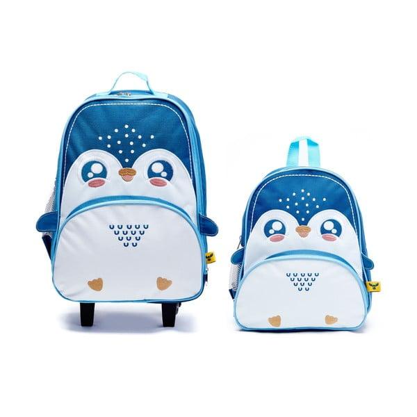 Dziecięcy plecak i walizka Lucky Little Moose Pingwin Philip