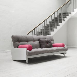 Sofa rozkładana Karup Indie Cool Gray/Gris/Light Bordeaux
