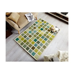 Zielony dywan Flair Rugs Illusion Abstract Blocks, 80x150 cm