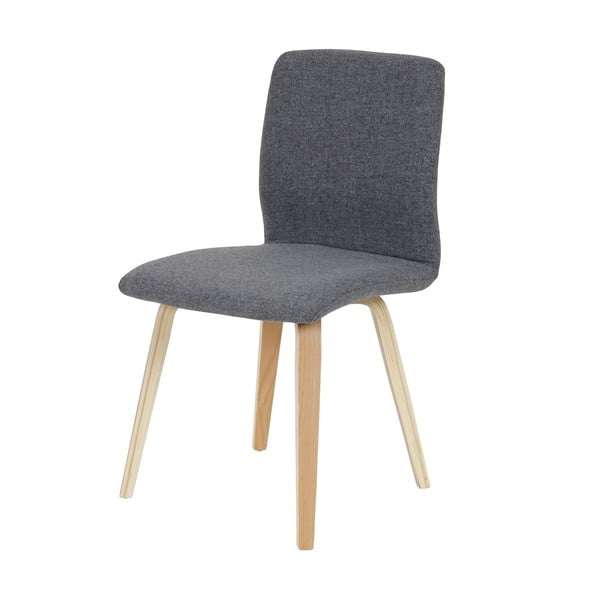 Komplet 2 krzeseł do jadalni Mendler Mountains Grey Textile
