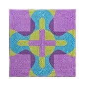 Dywanik łazienkowy Kolor My World XXV 90x90 cm, różowo-niebieski