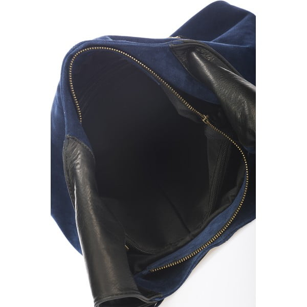 Skórzana torebka Maya, niebieska