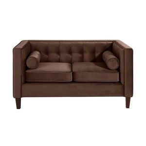Brązowa sofa dwuosobowa Max Winzer Jeronimo