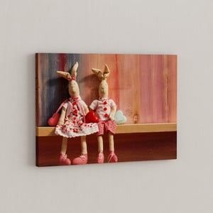 Obraz Para pluszaków, 50x70 cm