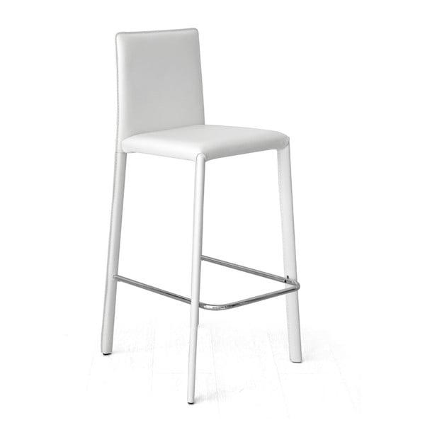 Krzesło barowe Fisso, białe