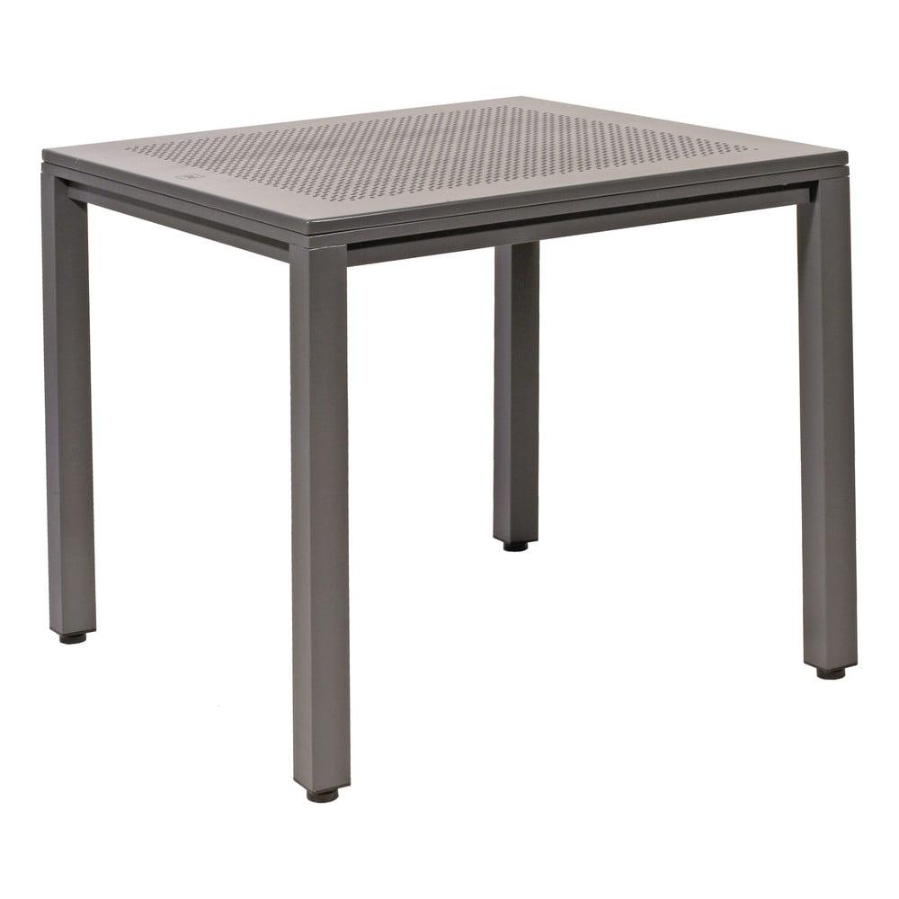 Szary aluminiowy stół ogrodowy Resol Born, 80x80 cm