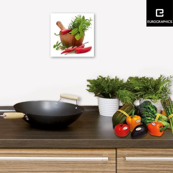 Szklany obraz Flavoring Spices, 20x20 cm