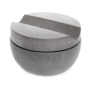 Szara betonowa miska do golenia z mydłem cedrowym Iris Hantverk