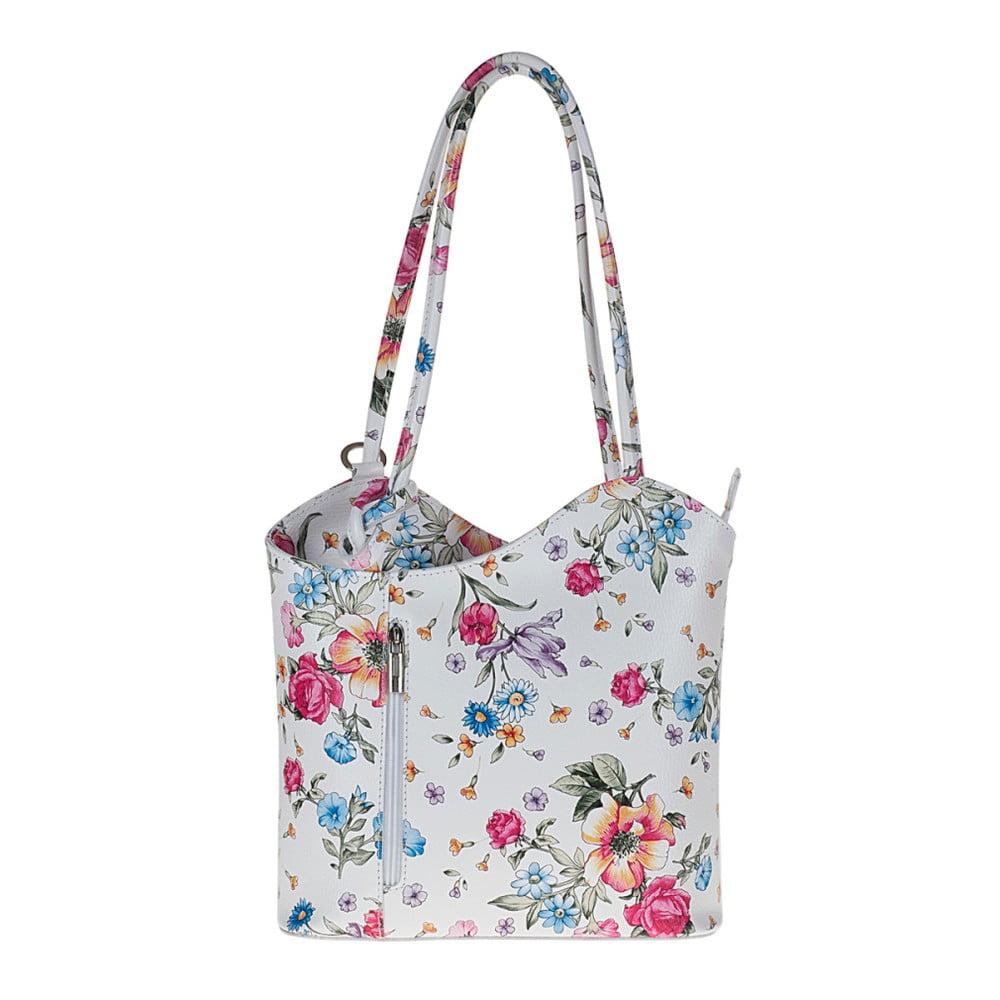 e2c640def972c Biała skórzana torebka w kwiaty Pitti Bags Maude