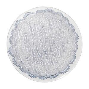 Niebieski   szklany talerz Côté Table Tulle, 28cm