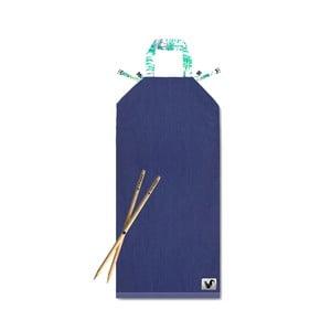 Niebieski leżak plażowy Origama Palms