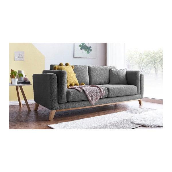 Ciemnoszara sofa 3-osobowa Bobochic Paris Enjoy