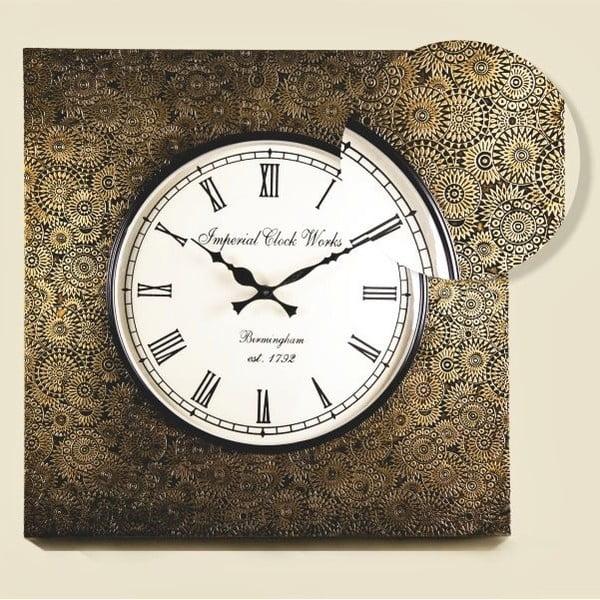 Zegar naścienny, zdobiona rama