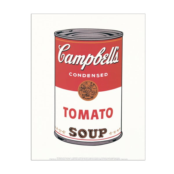 Obraz Andy Warhol - Campbell's Soup (Tomato 1968), 28x35 cm
