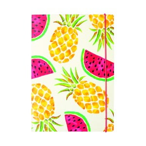 Notatnik w linie B5 Portico Designs Pineapple And Watermelon, 80 stron