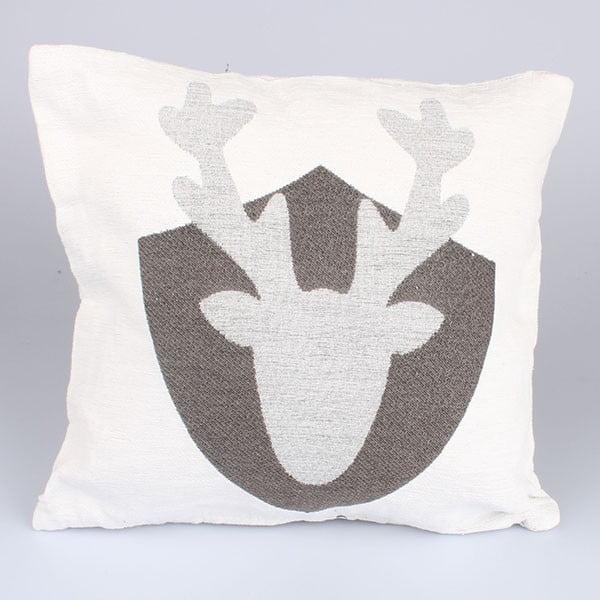 Poszewka na poduszkę Dakls, biały renifer
