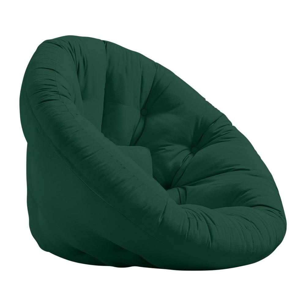 Fotel rozkładany Karup Design Nido Forest Green