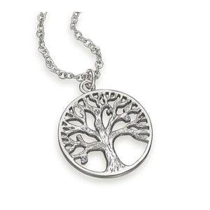 Naszyjnik z kryształami Swarovski® Gemseller Tree of Life White
