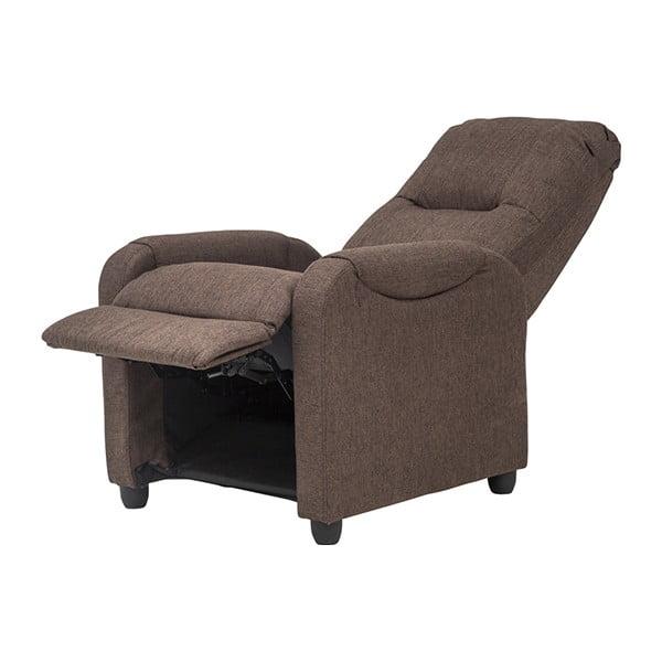 Fotel/leżanka Arton, ciemnobrązowa tkanina