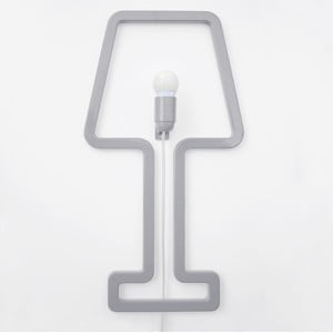 Lampa ścienna Colored Shape Grey