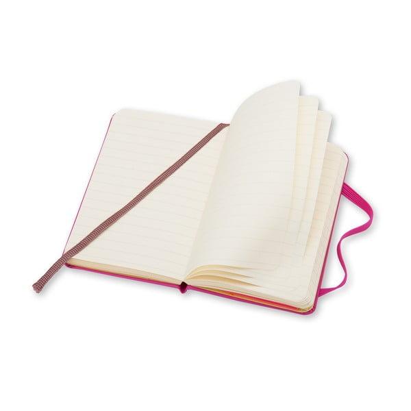 Różowy notatnik w linie  Moleskine XS