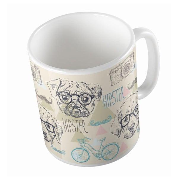 Ceramiczny kubek Hipsten Dog, 330 ml