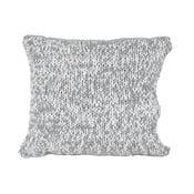 Szaro-biała poduszka Ego Dekor Double Knit,45x45cm