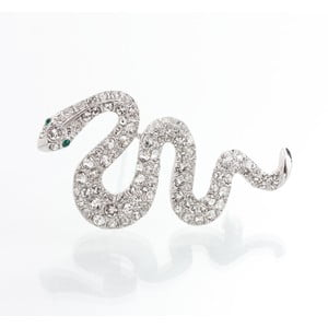 Broszka z kryształami Swarovski Elements Laura Bruni Serpent