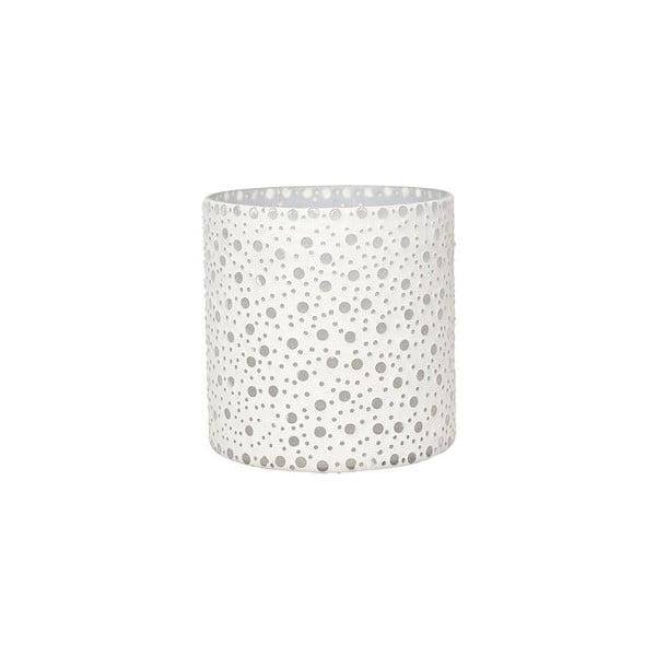 Świecznik Dots in White, 16,5 cm